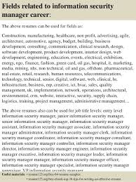 Security Resume Samples by Top 8 Information Security Manager Resume Samples