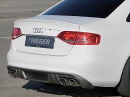 audi s4 exhaust rieger exhaust rear diffuser insert for audi a4 s4