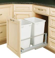 Kitchen Cabinet Trash Can Pull Out Rev A Shelf 5349 18dm 2 Double 35 Qt Soft Close Pullout Waste