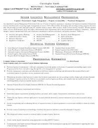 Sample Logistics Resume Bakery Manager Resume Resume Cv Cover Letter