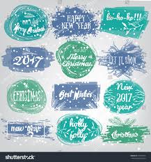 labels christmas new years designs decorative stock vector