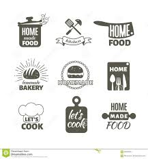 home and design logo home kitchen logo retro kitchen cooking home handmade vector stock