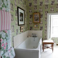 eclectic feature wallpaper bathroom traditional decorating ideas