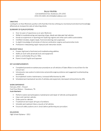 Sample Resume Objectives For Mechanics by Sample Auto Mechanic Resume Auto Mechanic Resume Sample Resume S