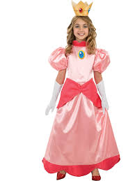 princess costumes for halloween deluxe princess peach costume super mario bros girls costumes