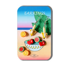 wholesale shop for story card of earrings fruit bowl designs