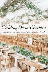 wedding help use this wedding décor checklist to help you nail every detail