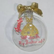 personalized will you be my bridesmaid ornament by moddottextiles