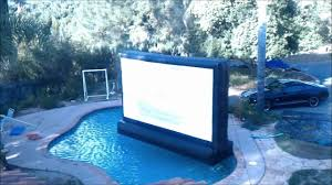 outdoor movie inflatable drive in pool party backyard movie night