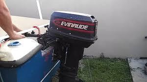 1998 evinrude 25 hp 1 3 youtube