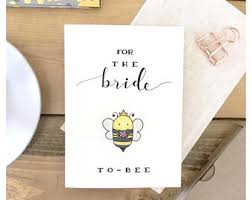 to be card bridal shower cards etsy