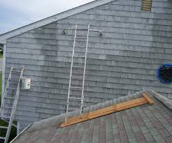 safe scaffolding for painting above an attached garage 4 steps