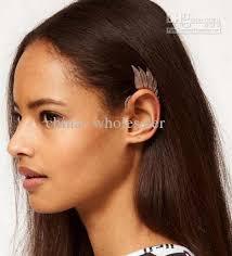 pierced ears without earrings new stylish metal fairy ear hanging wings ear cuff
