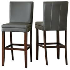 stools hasina gray 26 inch counter stool set of 2 dark gray