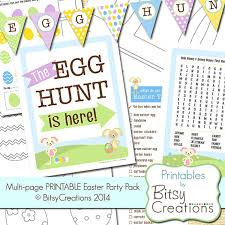 printable easter activity pages multi easter party pack
