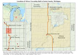 Michigan Township Map by Map Showing The Location Of Otisco Township Hall In Otisco