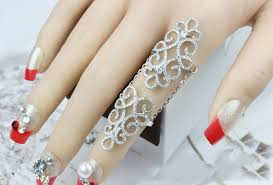 long silver rings images Stylish latest 925 silver jewelry hollow cz long ring art deco cz jpg