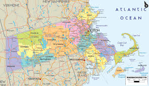 Massachusetts Town Map by Massachusetts Map