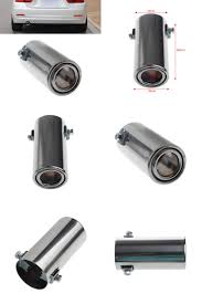 visit to buy universal stainless steel car rear round exhaust