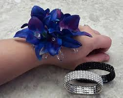 blue orchid corsage orchid corsage etsy