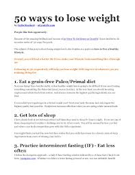 50 ways to lose weight by colin stuckert u2013 agymlife com