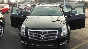 black cadillac cts 2010 cadillac cts premium sedan black used car dealer dayton troy