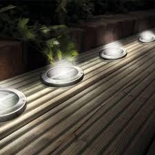 cis 57147 white light enchanted garden solar lights round recessed