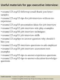 top 8 ppc executive resume samples