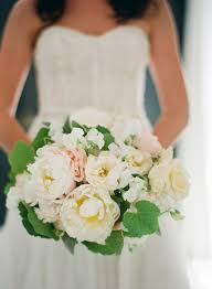 Wedding Flowers Greenery White And Peach Garden Bridal Bouquet With Greenery Elizabeth