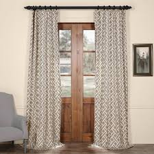 get martinique taupe printed cotton curtain and drapes