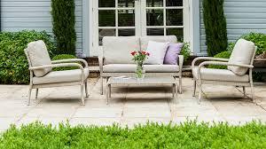 wooden metal weave rattan garden furniture collections