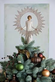 Black Angel Christmas Tree Topper Uk by Amazon Com Willow Tree 27277 Starlight Angel Tree Topper 12 Inch