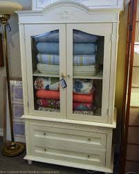 armoires with shelves simply shabby chic armoire painted computer
