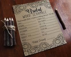 Free Printable Halloween Word Scramble by Bridal Word Scramble Bridal Shower Games Bridal Shower