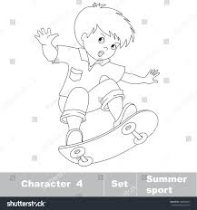 page be color skateboarding one baby stock vector 288828647