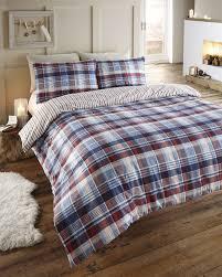 Christmas Duvet Covers Uk 100 Cotton Flannelette Quilt Duvet Cover Bedding Bed Sets For