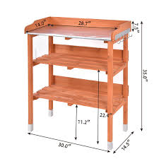 Garden Potting Bench Garden Wooden Potting Bench Work Station With Hook Potting