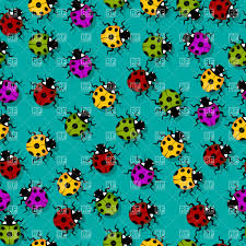 cute little ladybugs seamless background vector clipart image
