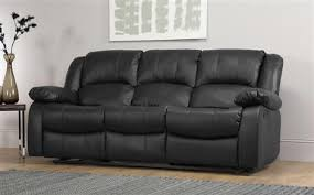 3 seater recliner sofa dakota leather recliner sofa suite 3 2 seater black only 899 98