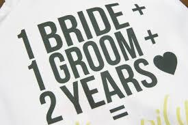 2nd year wedding anniversary diy 2nd wedding anniversary cotton gift bag wedding anniversary