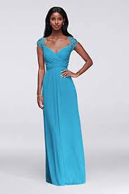 malibu blue bridesmaid dresses david u0027s bridal
