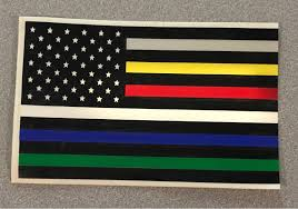 Flag It Stickers First Responder Decal Car Decal Firefighter Sticker