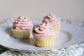 perfect vanilla cupcakes with pink champagne frosting the tasty bite