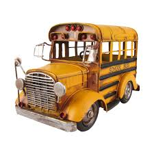 vintage 1 24 scale model short yellow bus vehicle home