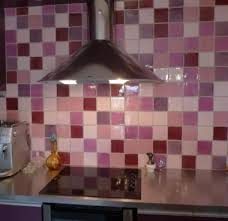 faience murale pour cuisine faïence murale pour cuisine patchwork tons prune et mau céramiques