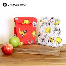 Upcycle That - cute lunch bag tutorial upcycle that