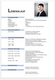 Lebenslauf Vorlage Excel Kostenlose Lebenslauf Vorlagen Office Lernen