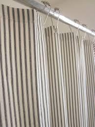 Ticking Stripe Curtains Bold Ideas Ticking Stripe Shower Curtain Nautical Grommeted 72x72