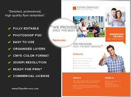 real estate services flyer template flyerheroes
