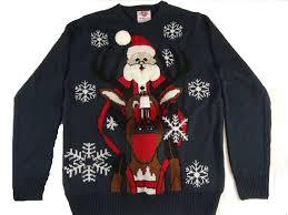 santa rudolph holder sweater the